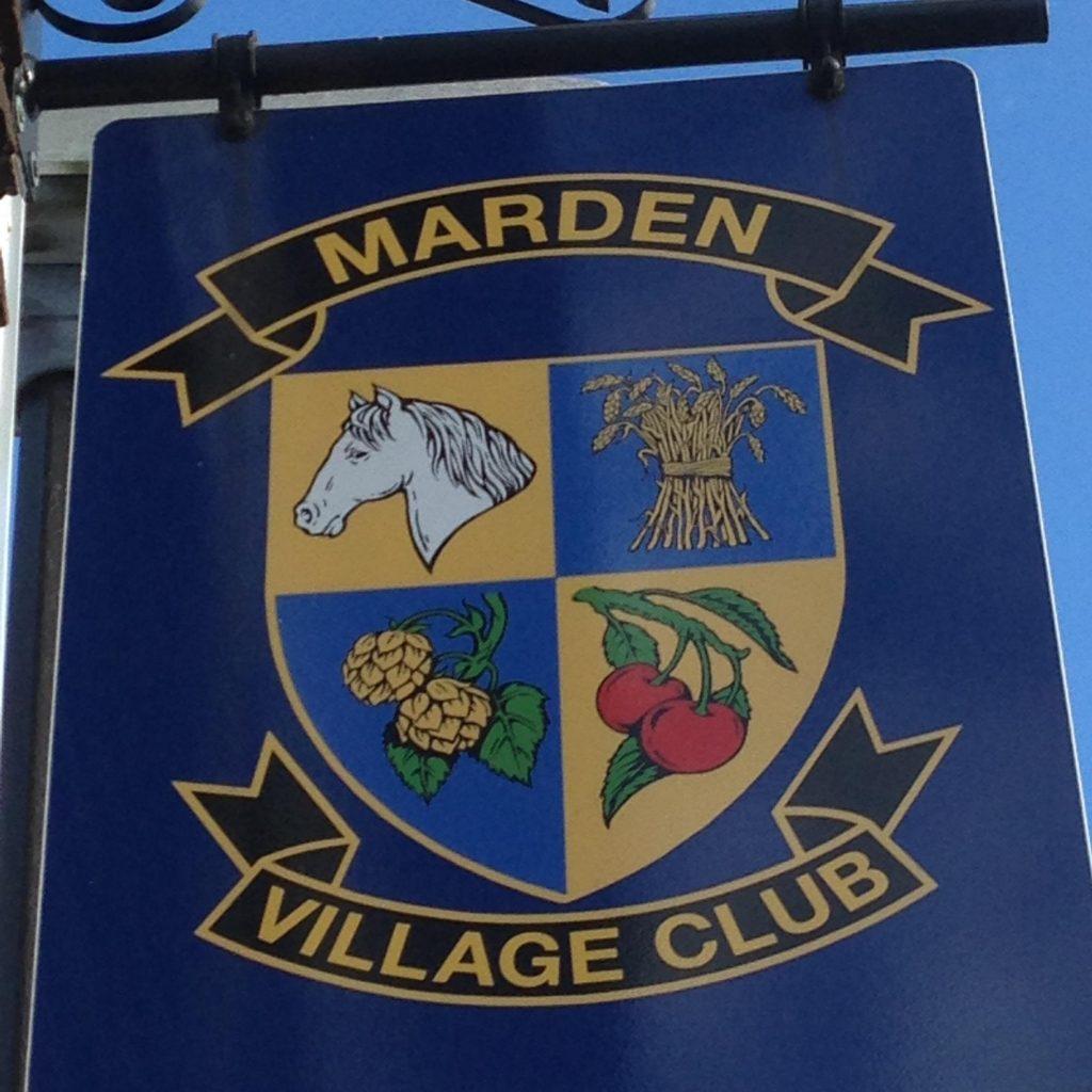 Marden Village Club Kent sign