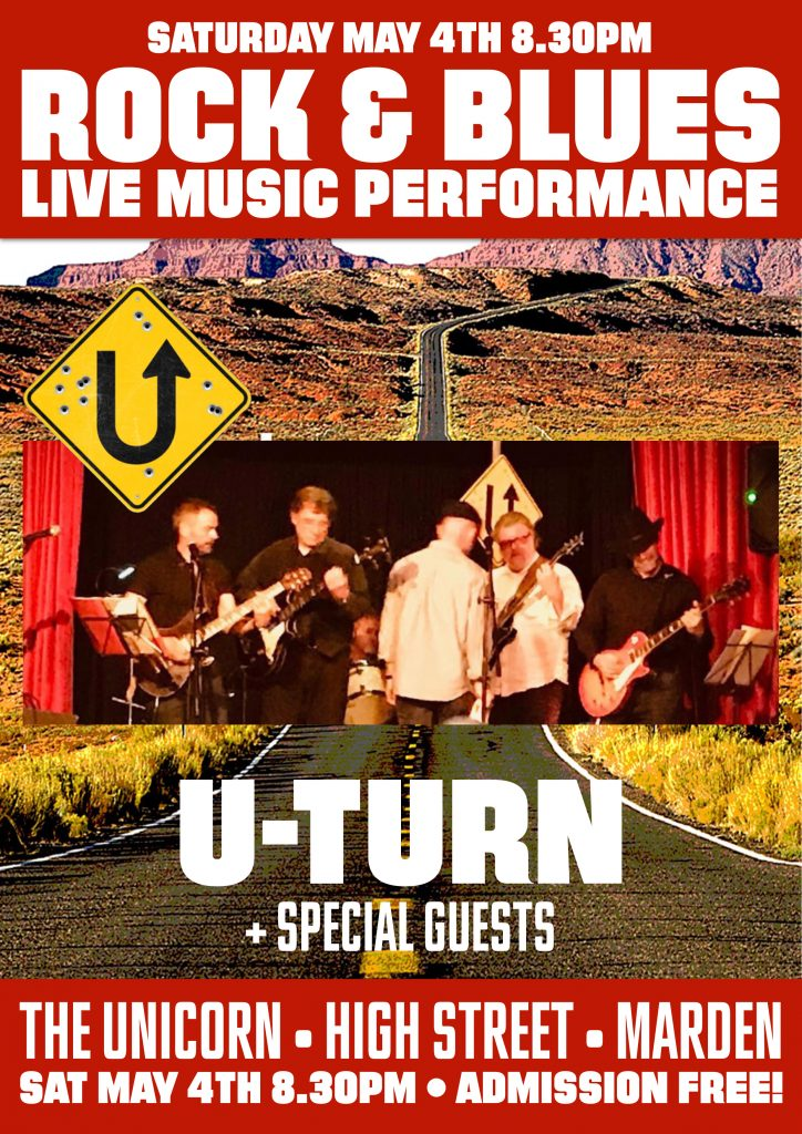 U-Turn Live at the The Unicorn Marden Kent