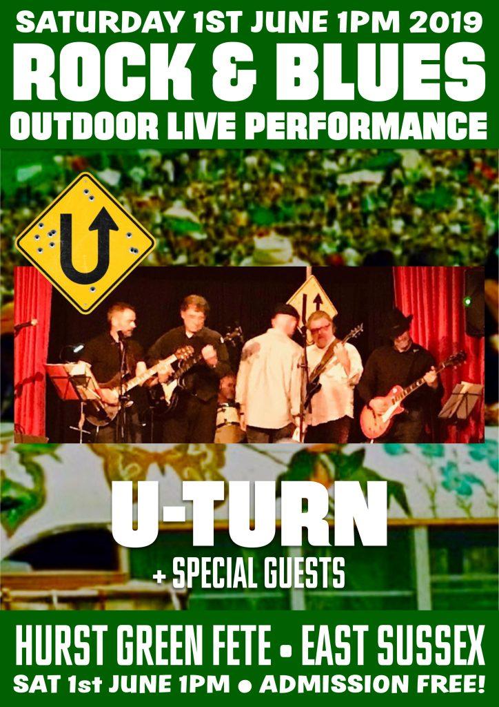 U-Turn Live at Hurst Green Fete East Sussex