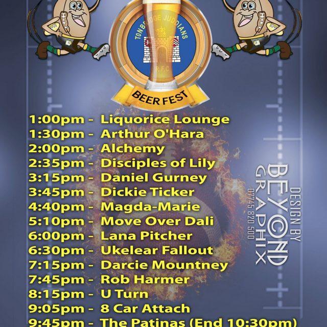 2019 Tonbridge Juddians Beer Festival poster