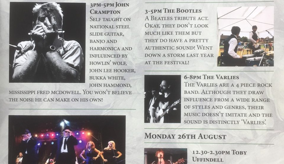 Halfway House Beer Festival Music Programme