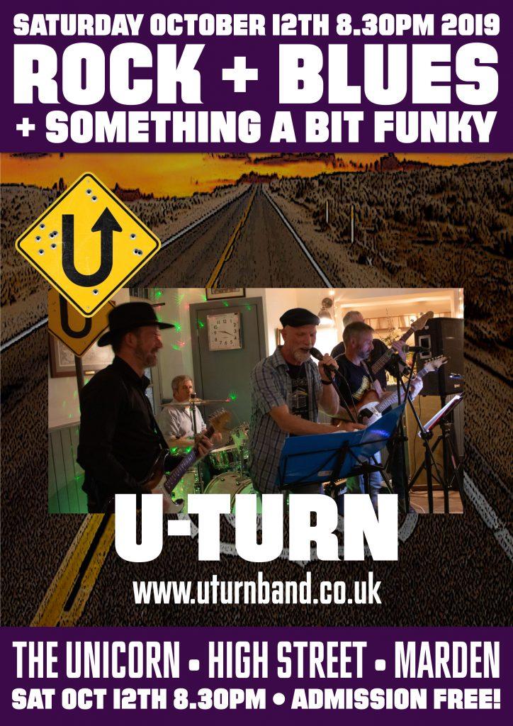 U-Turn Live at The Unicorn Marden kent